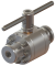 "3/4"" Floating Ball Valve with Grayloc connections and manual lever actuator"